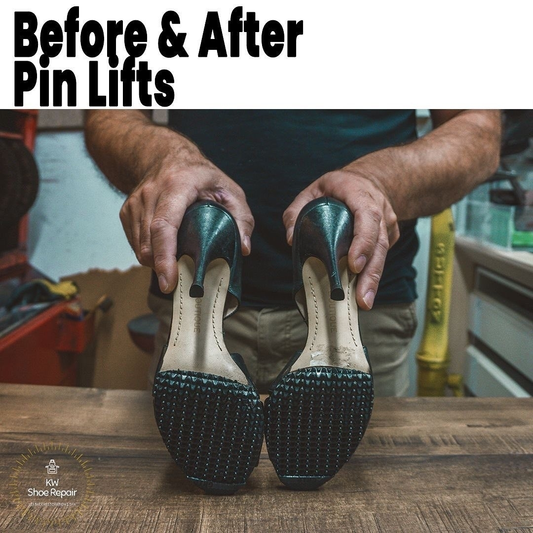 KW Shoe Repair & Sneaker Cleaning Service in Kitchener: ??Lift pin replacements on all types of heels. ?See before & after ??Location: 366 Zeller Dr, Kitchener ??Open: Monday - Saturday ??Call: 519 893 6863