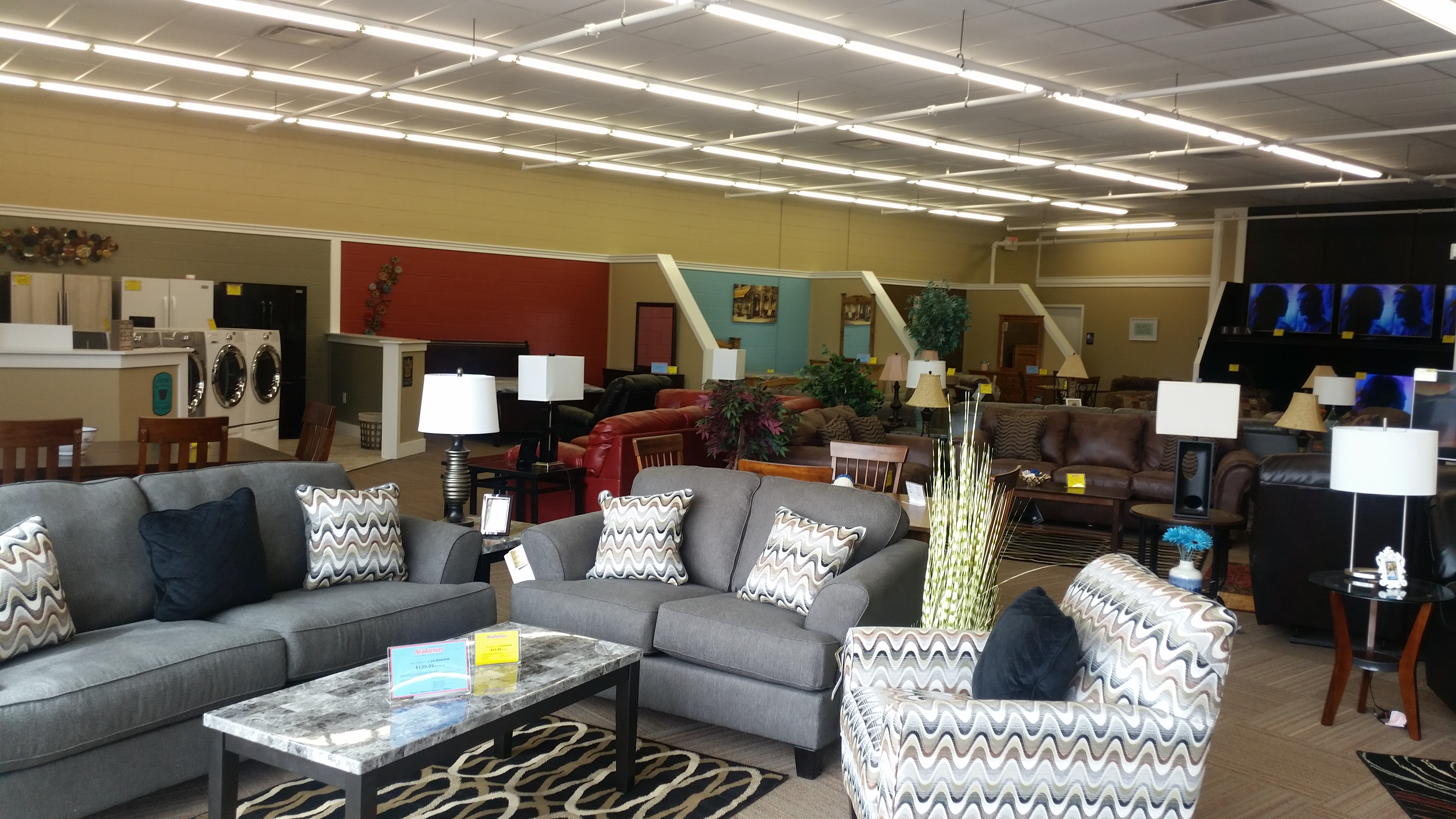 New avenues in lubbock tx furniture stores yellow for Furniture lubbock