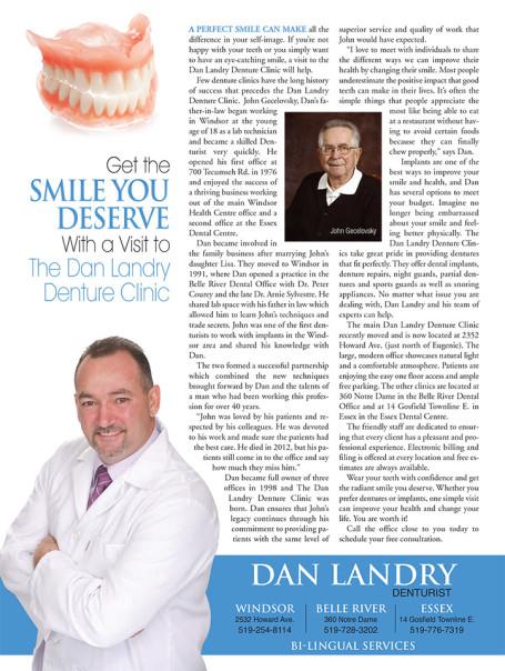 Dan Landry Denture Clinic in Windsor