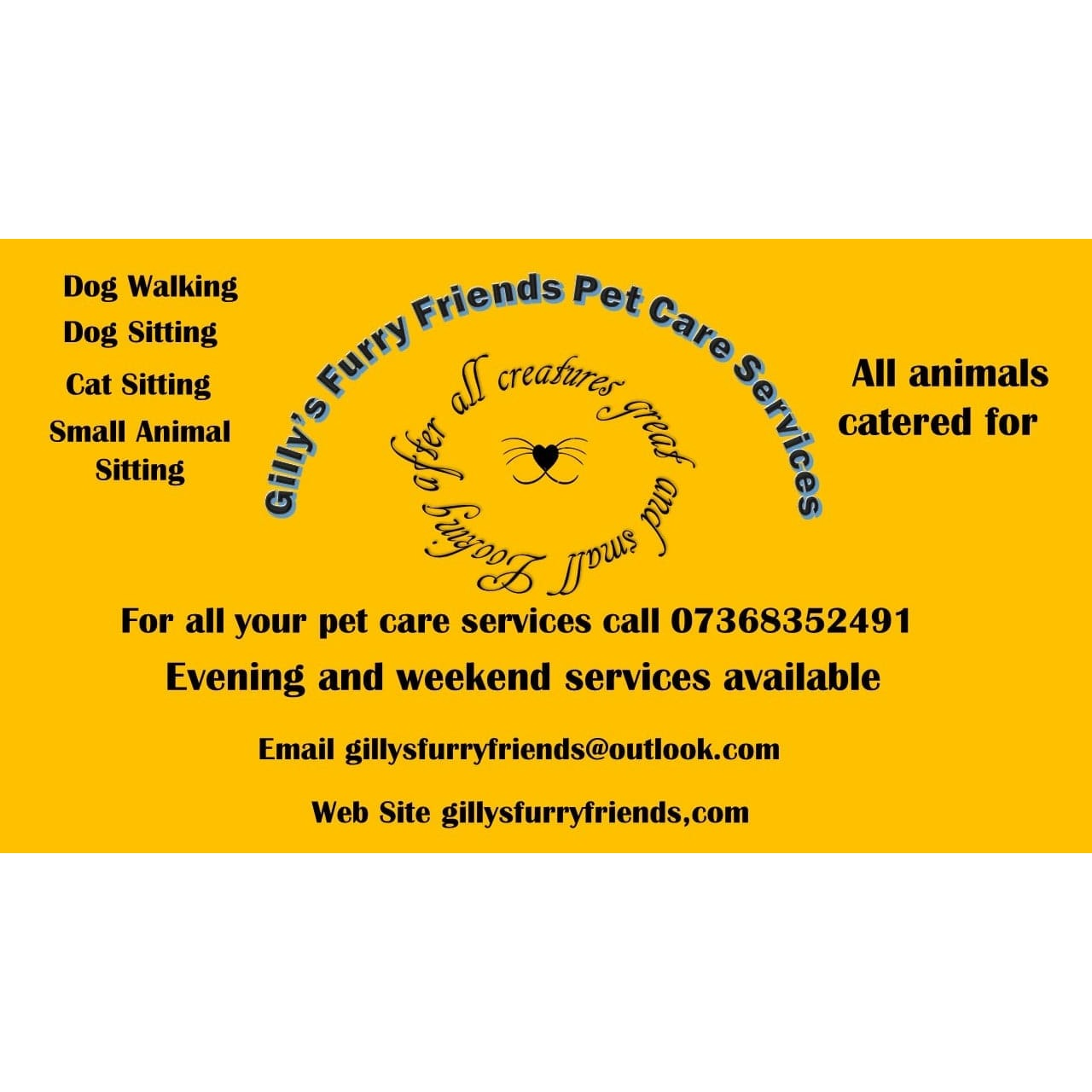 Gilly's Furry Friends Pet Care Services - Weston-Super-Mare, Somerset BS22 8SS - 07368 352491 | ShowMeLocal.com