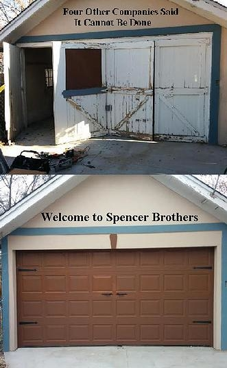 Spencer brothers garage doors for Garage door service fort collins