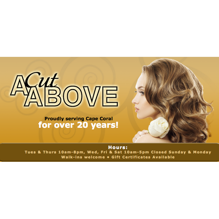 A cut above salon llc in cape coral fl 33904 for A cut above salon