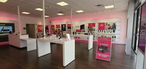 Interior photo of T-Mobile Store at Cross Timbers & Long Prairie, Flower Mound, TX