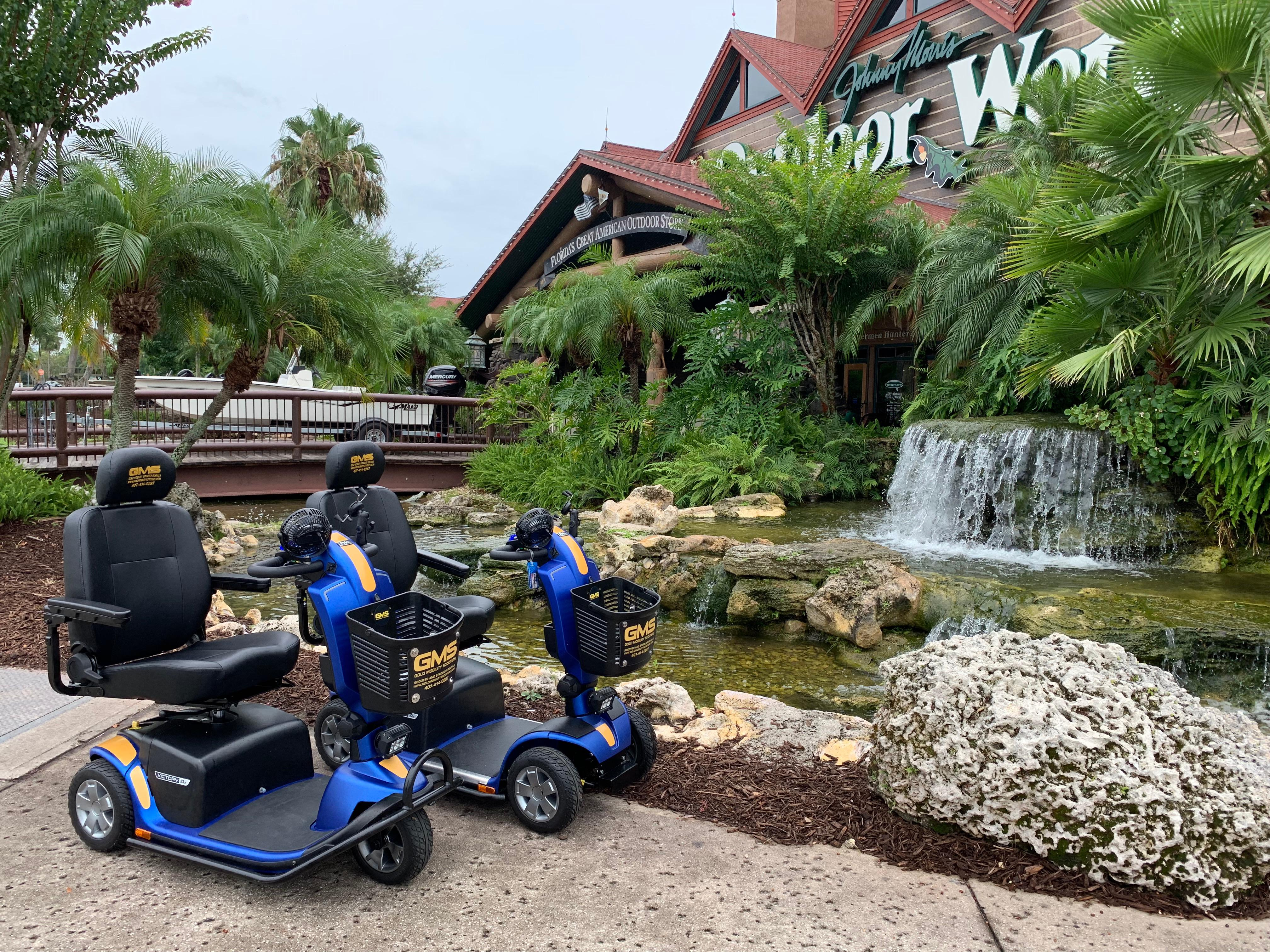 Scooter rental in Orlando Florida  by Gold Mobility Scooters. We sell and rent top of the line Pride Mobility Scooters in our rent a scooter line. Theme Parks and Orlando Florida Area scooter rentals. Best rental Prices, Premium brand new scooters for rent, Free Delivery and Pickup, Free Damage Waver, Free Accessories, and Custom upgrades. 5 star rated scooter rental company. Scooter Rental info at https://goldmobilityscooters.com or Call us at 407-414-0287