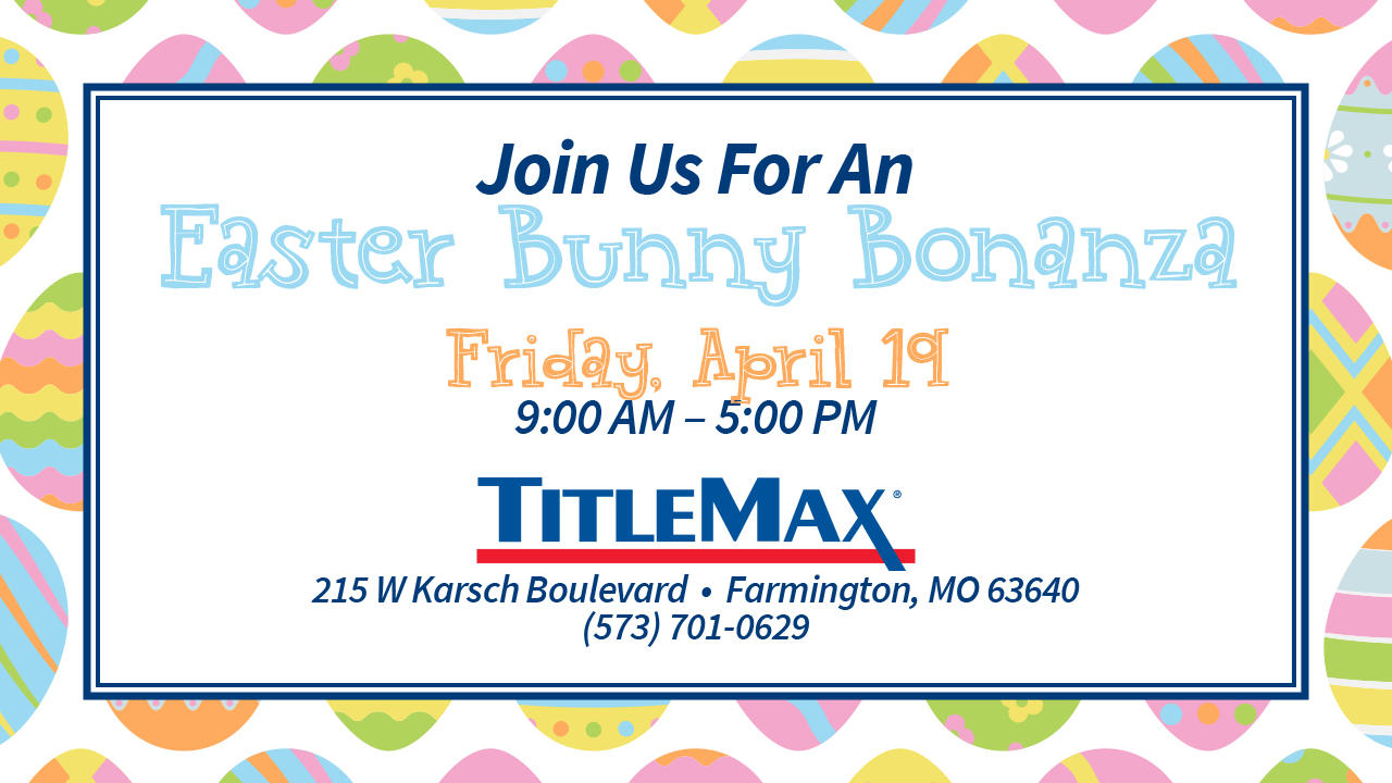 Pictures with the Easter Bunny at TitleMax Farmington, MO