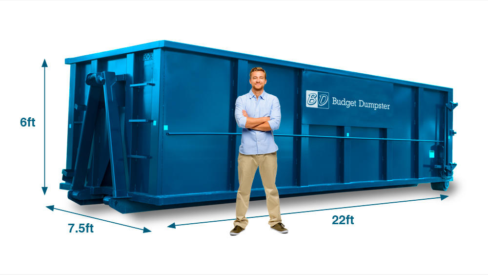A 30 yard dumpster can hold nine pickup truck loads of debris and is great if for major construction projects. Given its height, this size dumpster is capable of holding large furniture.