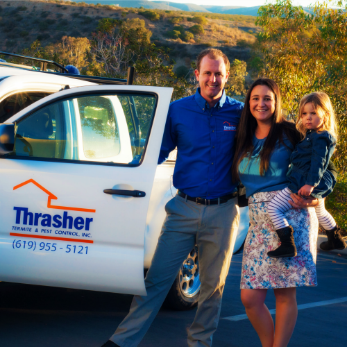Thrasher Termite & Pest Control is locally owned by second-generation pest control operator Garrett Thrasher and Lauren Thrasher.