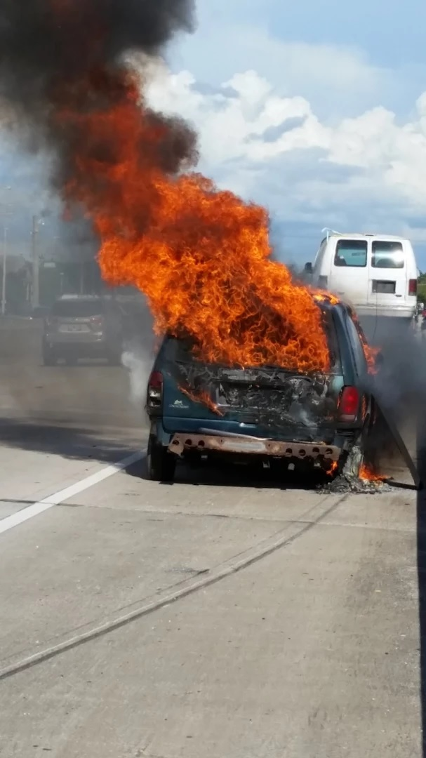 What happens to a junk car when it catches fire? It transforms into another junk car.