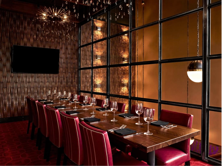 Del Frisco's Grille New York Private Room group dining room