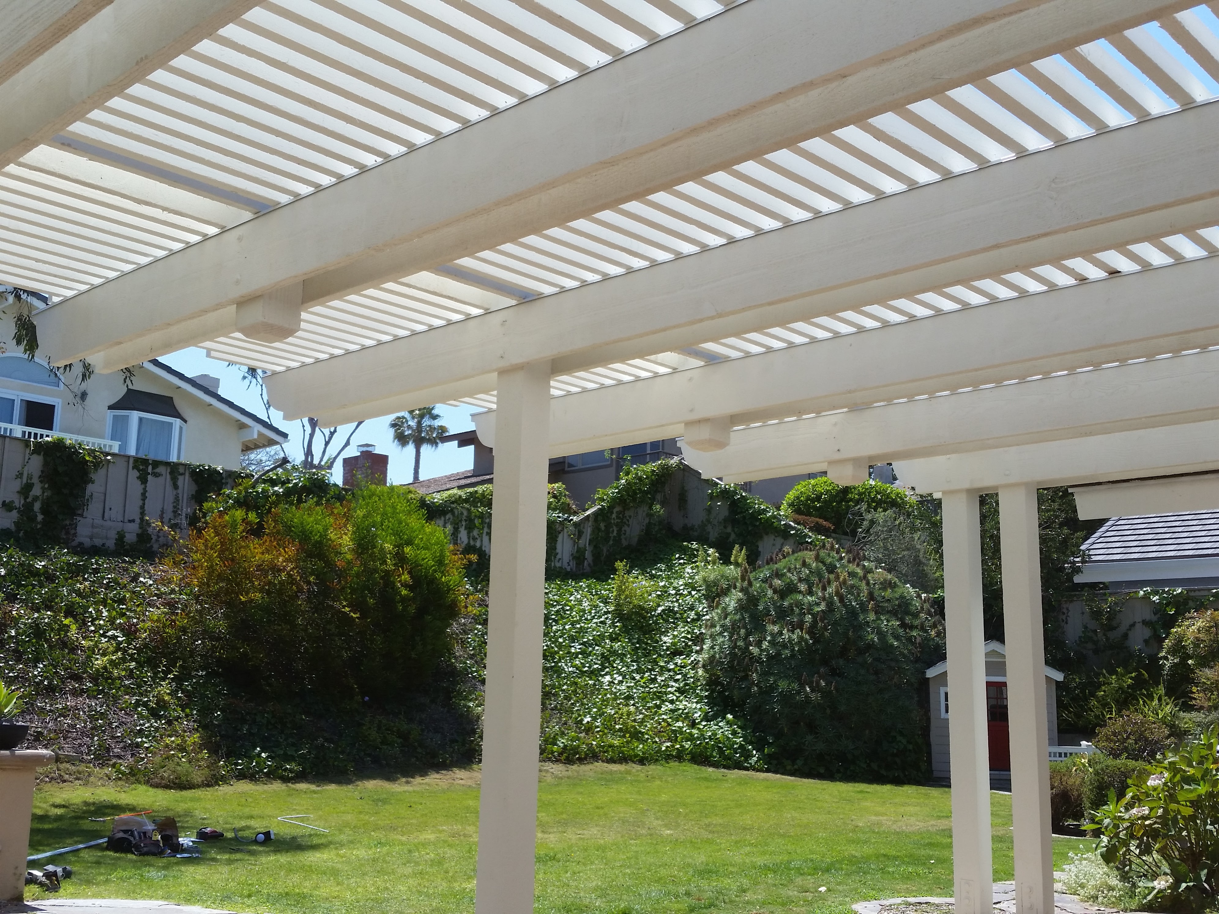 Wood Pergolas & Patio Covers Mission Viejo With Blue Knight