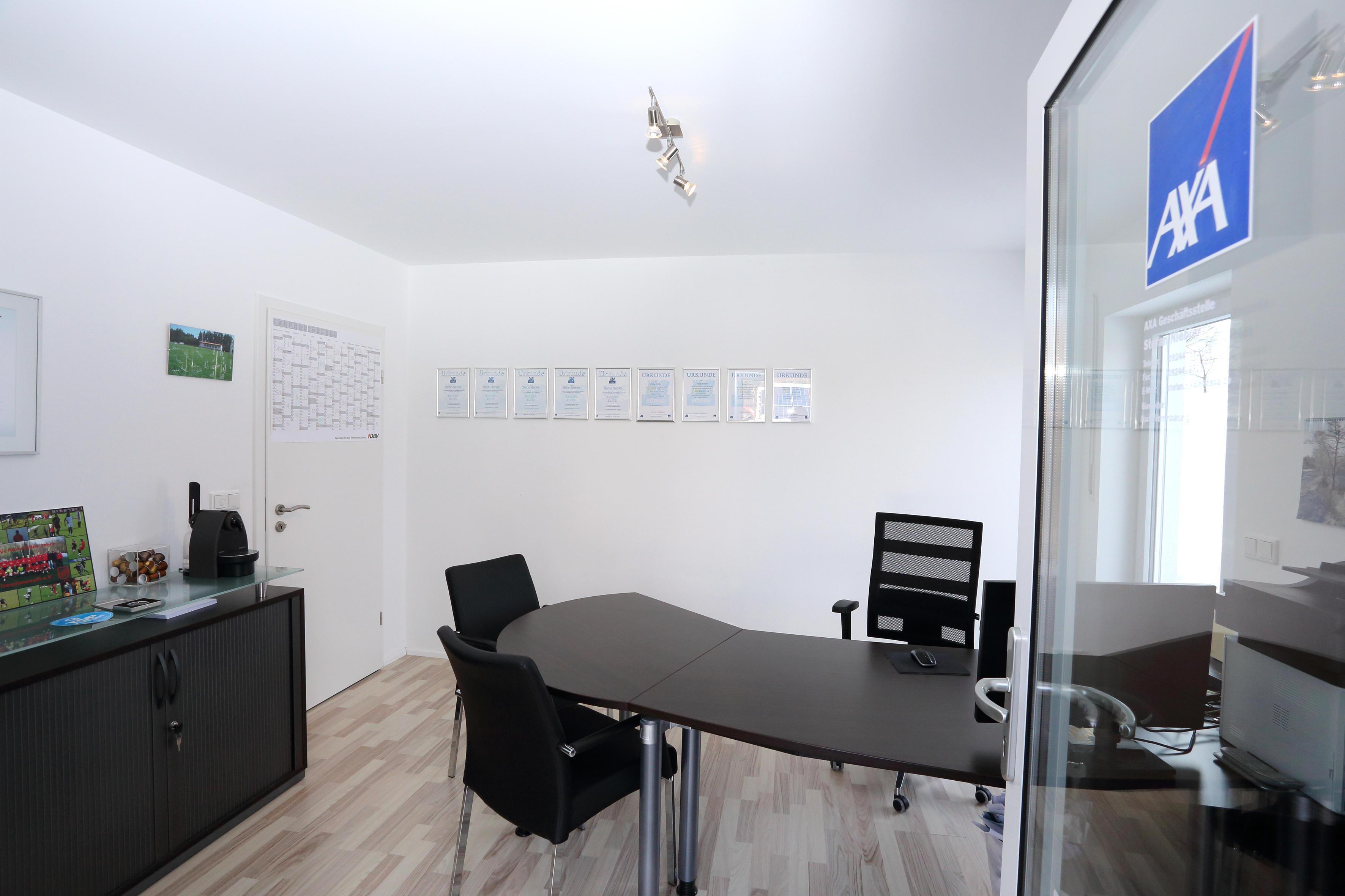 Beratungsräume in der AXA Agentur Niebler in Bayreuth