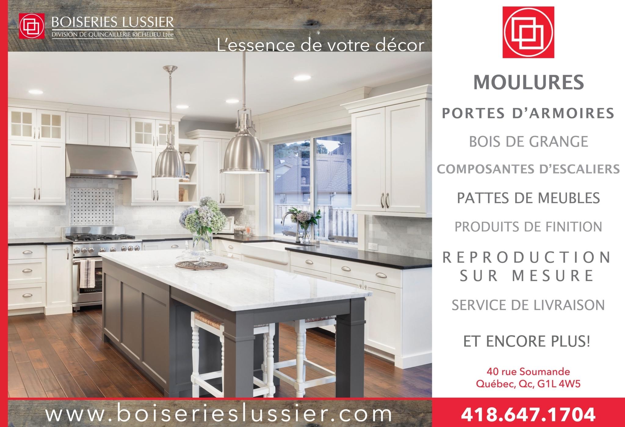 Boiseries Lussier Division de Quincaillerie Richelieu Ltée à Québec
