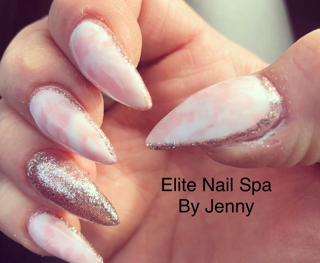 Elite Nail Spa in Whitby: Beautiful marble nails by Jenny.