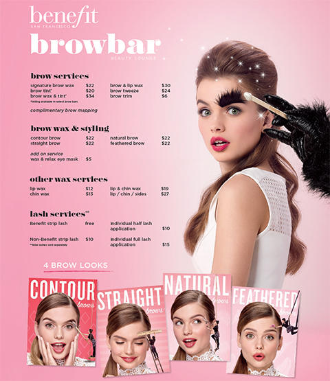 Benefit Cosmetics BrowBar Beauty Counter