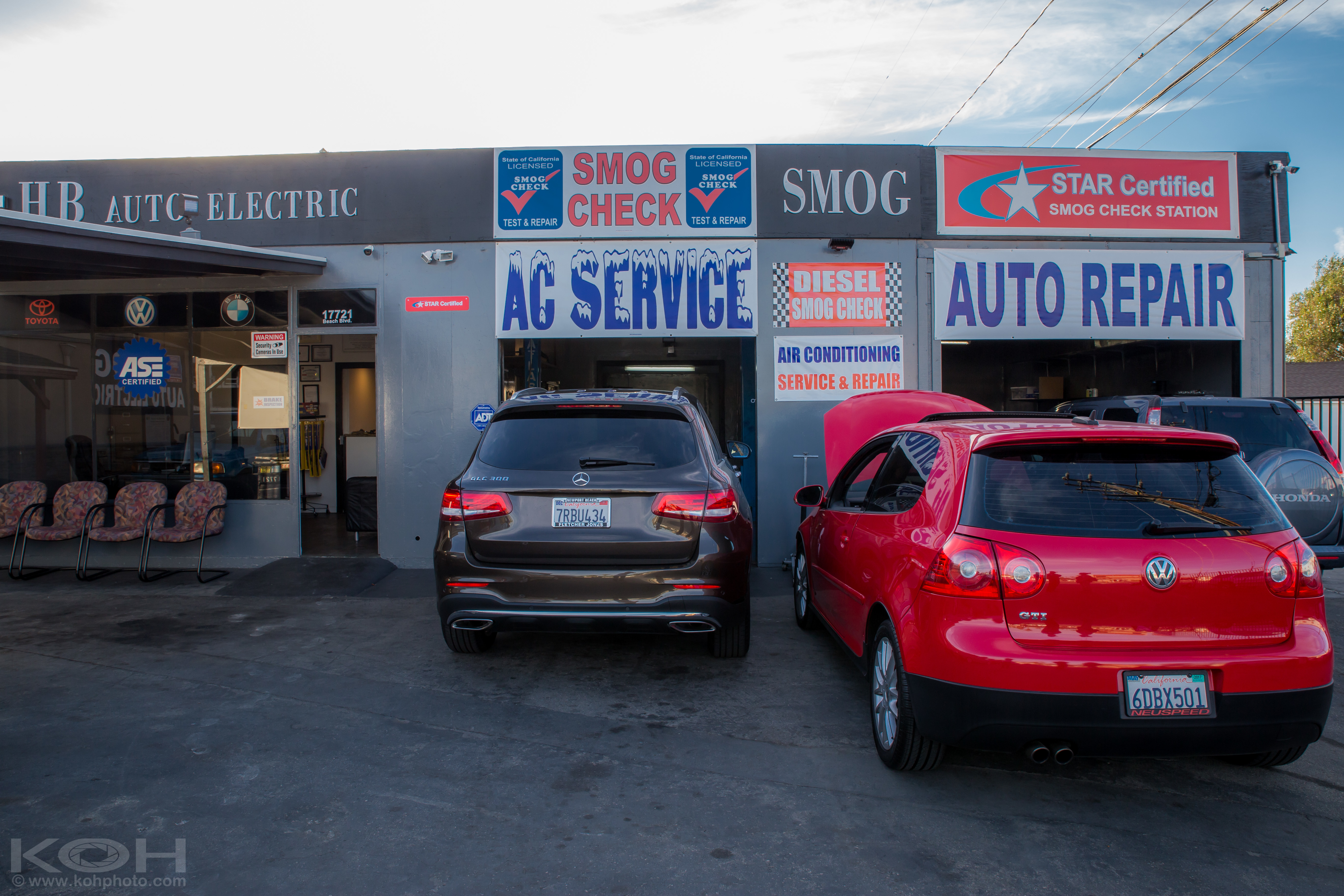 H b auto electric and smog huntington beach california for A and b motors