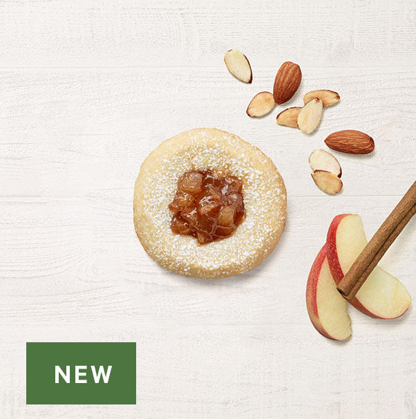 New! Apple Pie Almond Thumbprint Cookie