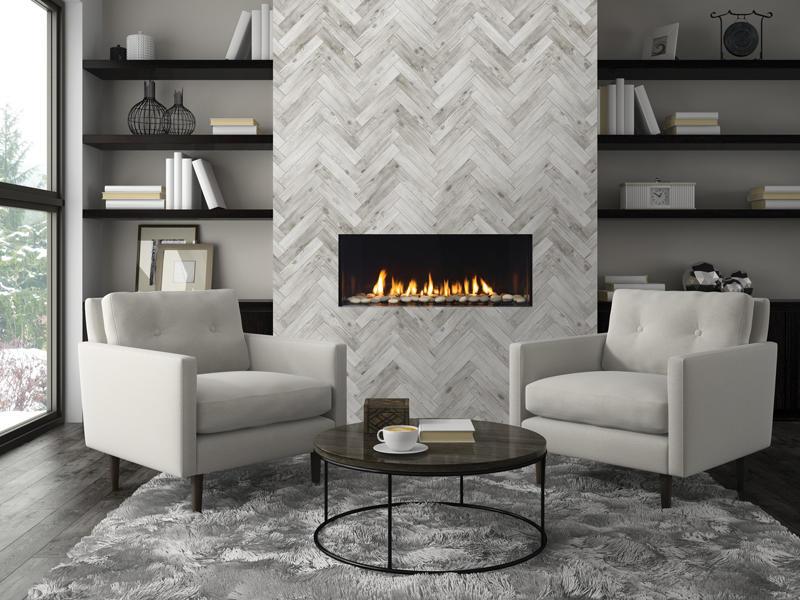 Fireplace Gallery in Edmonton: Regency City Series New York View 40 Designer Gas Fireplace