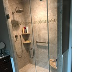 Our NJ Bathroom Contractors did this beautiful tiled shower in NJ