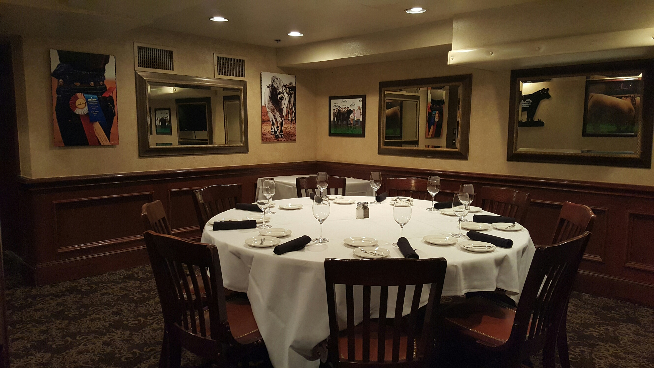 Del Frisco's Double Eagle Steakhouse Fort Worth Syndicate Room private dining room