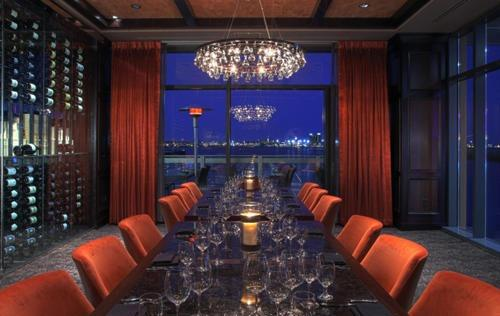 Del Frisco's Double Eagle Steakhouse Boston Harbor Room private dining room