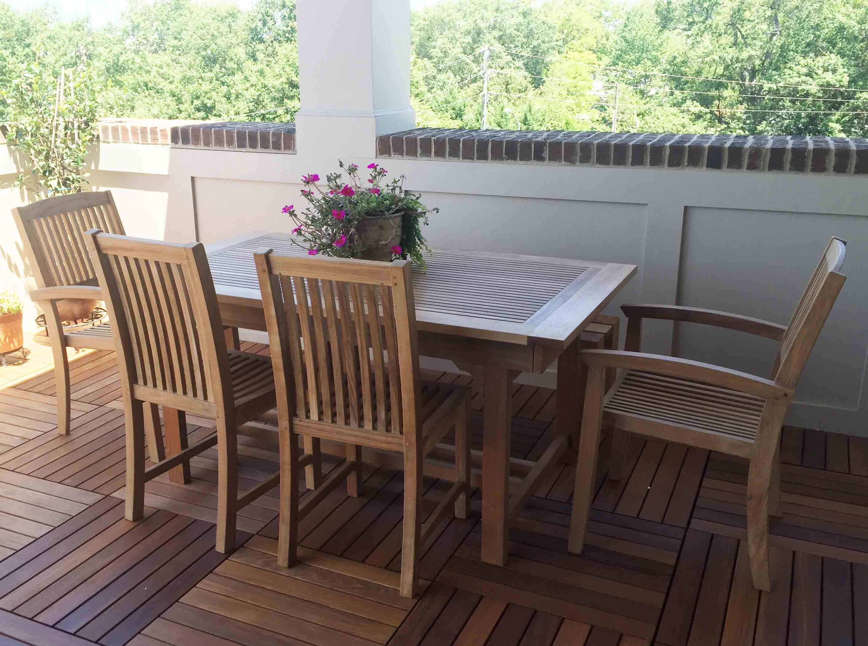 Teak patio furniture near me furniture dining set for Dinette sets near me