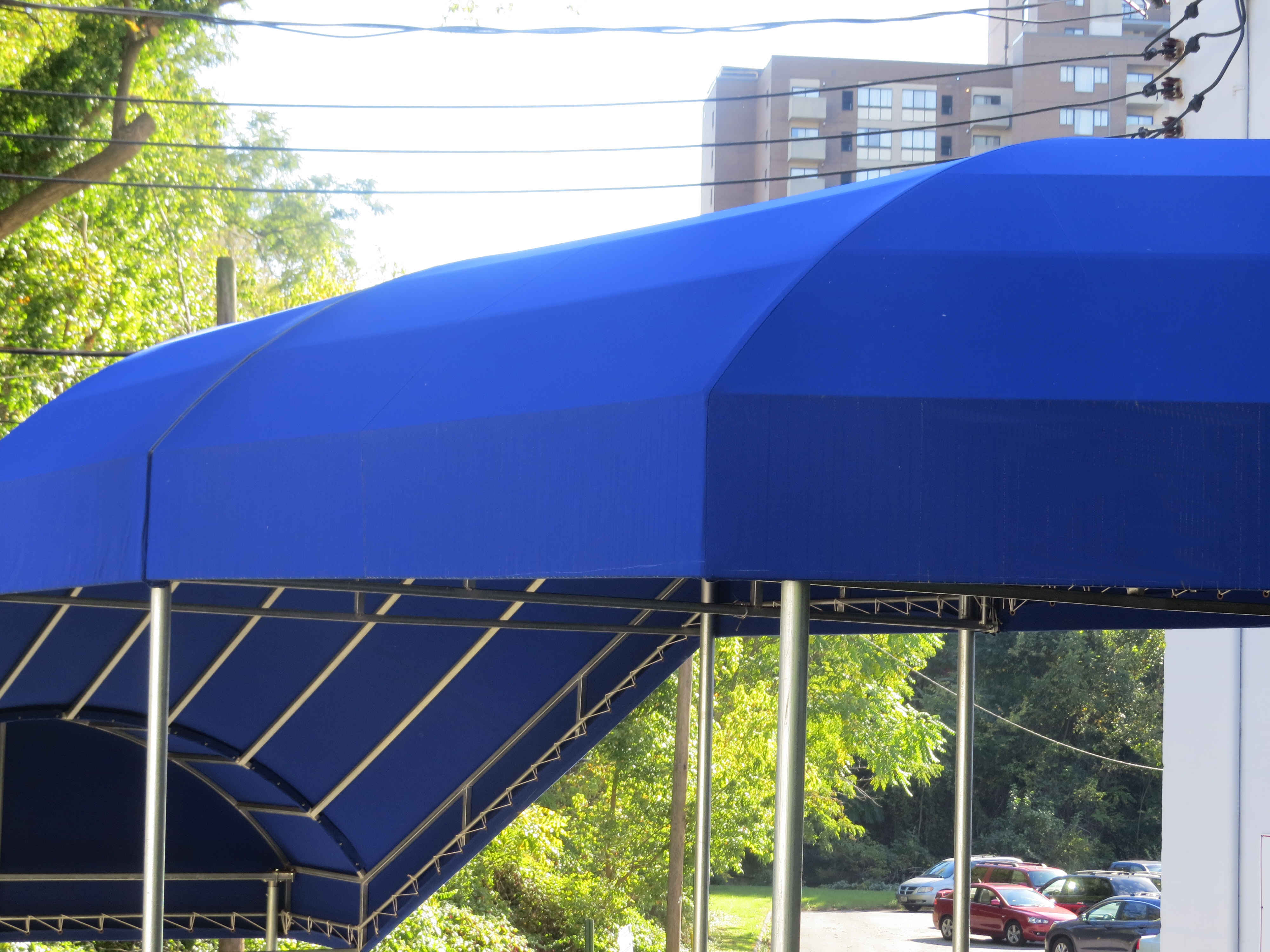 A. Hoffman Awning Baltimore http://ahoffmanawning.com/                 American Legion Awning Winding Entrance Canopy in Baltimore  http://ahoffmanawning.com/