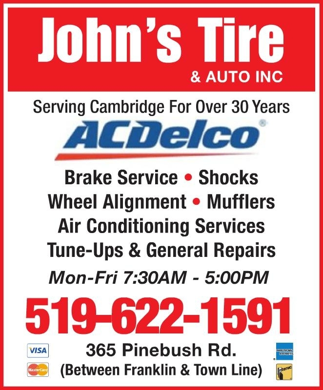 John's Tire & Auto Inc Cambridge (519)622-1591