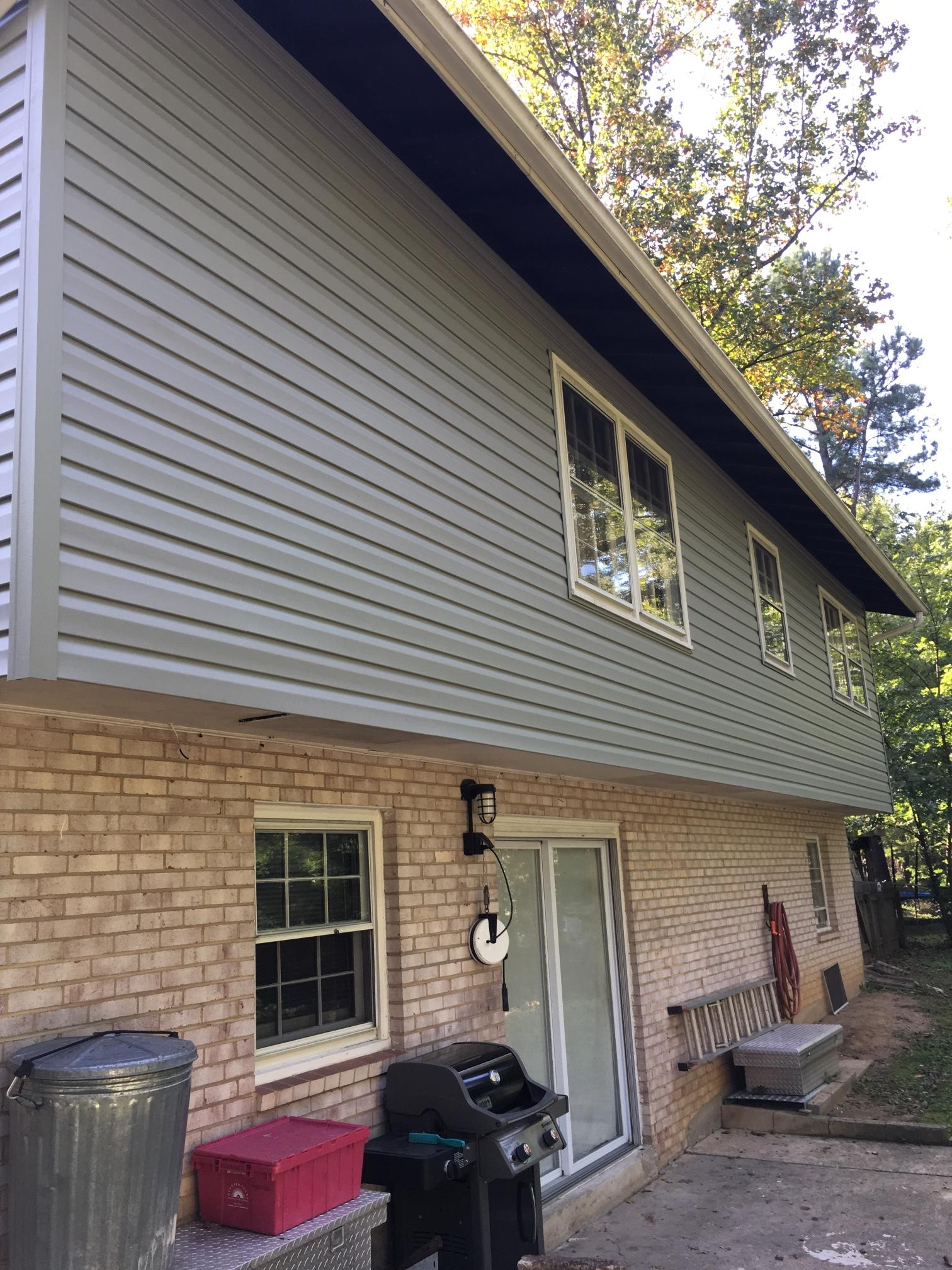 Replaced siding.