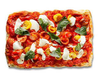 Bruschetta Rustica Pizza made by P.ZA Kitchen.