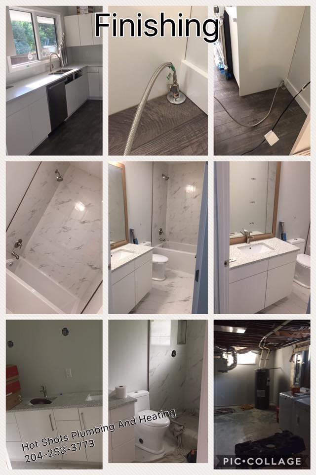 Hot Shots Plumbing & Heating Corporation in Winnipeg: Home Renovation - Bathroom - Kitchen - Mechanical Room