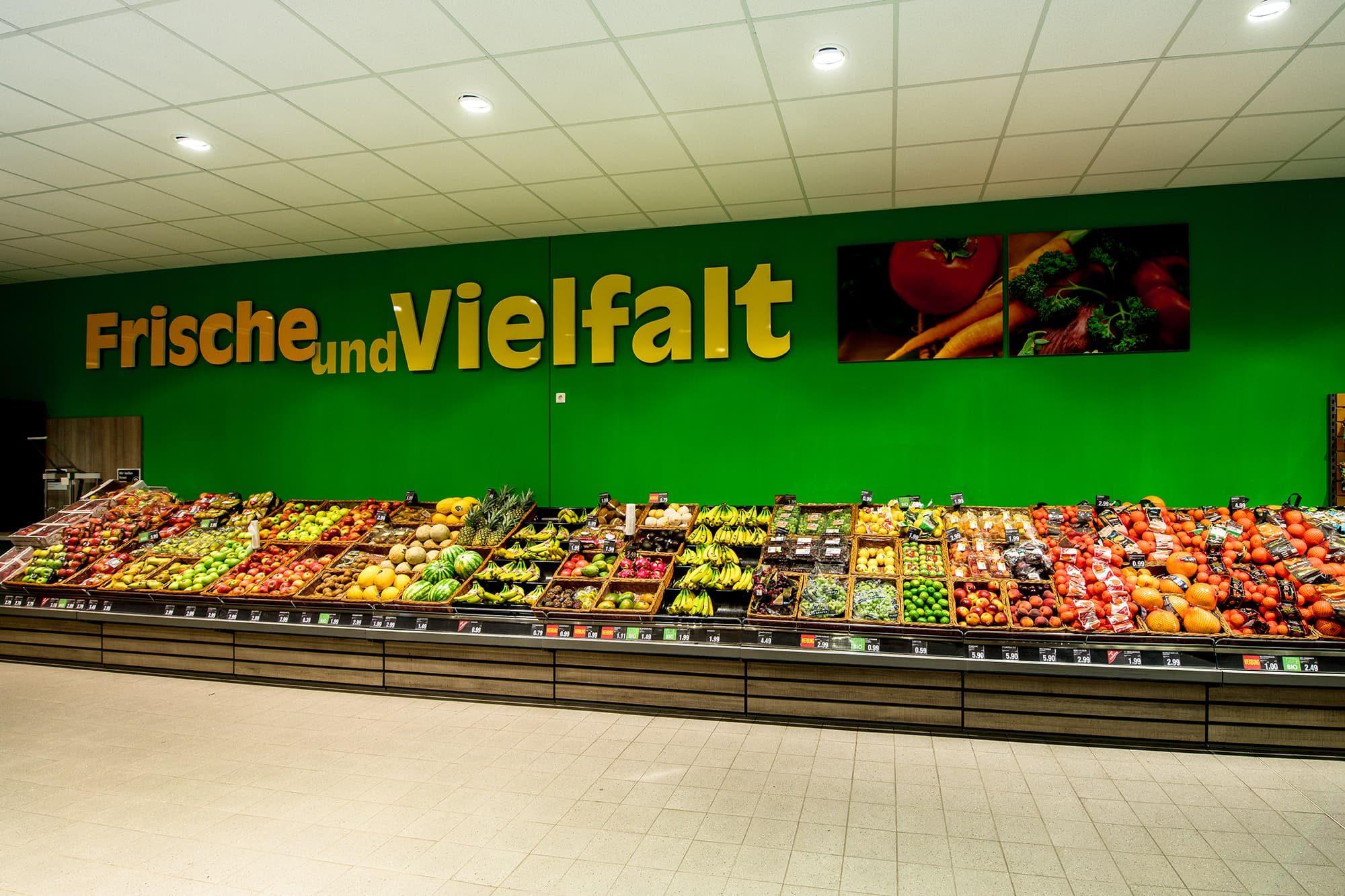 Obst und Gemüseabteilung