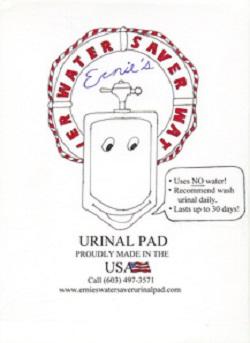 Ernie's Urinal Pad