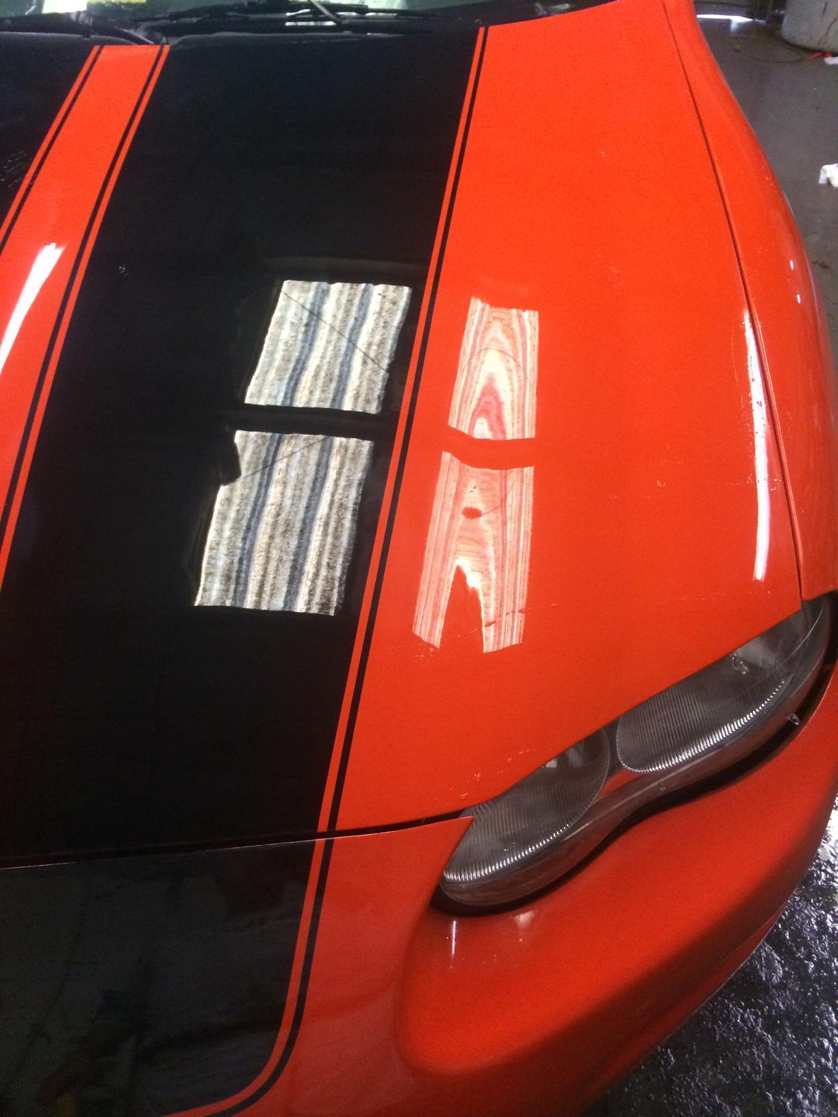 Auto detailing near media paint