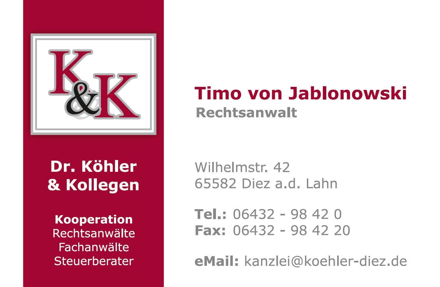 Dr. Köhler & Kollegen, Rechtsanwälte