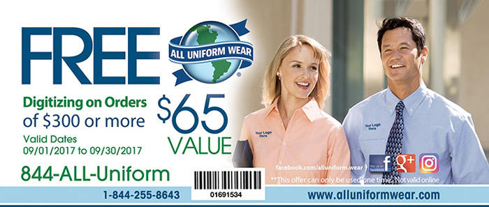 All uniform wear coupons