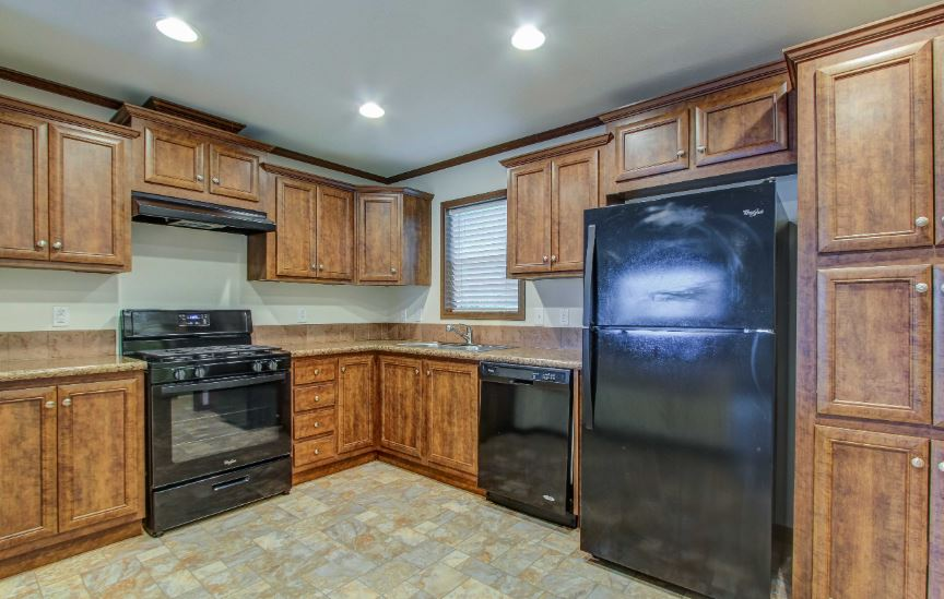 Each home kitchen comes with appliances included
