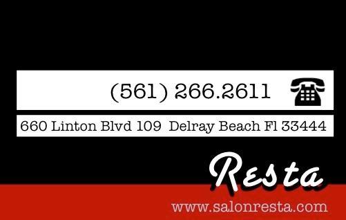 Salon Resta  Delray Full UpScale High End Salon, Best Salons Delray Beach