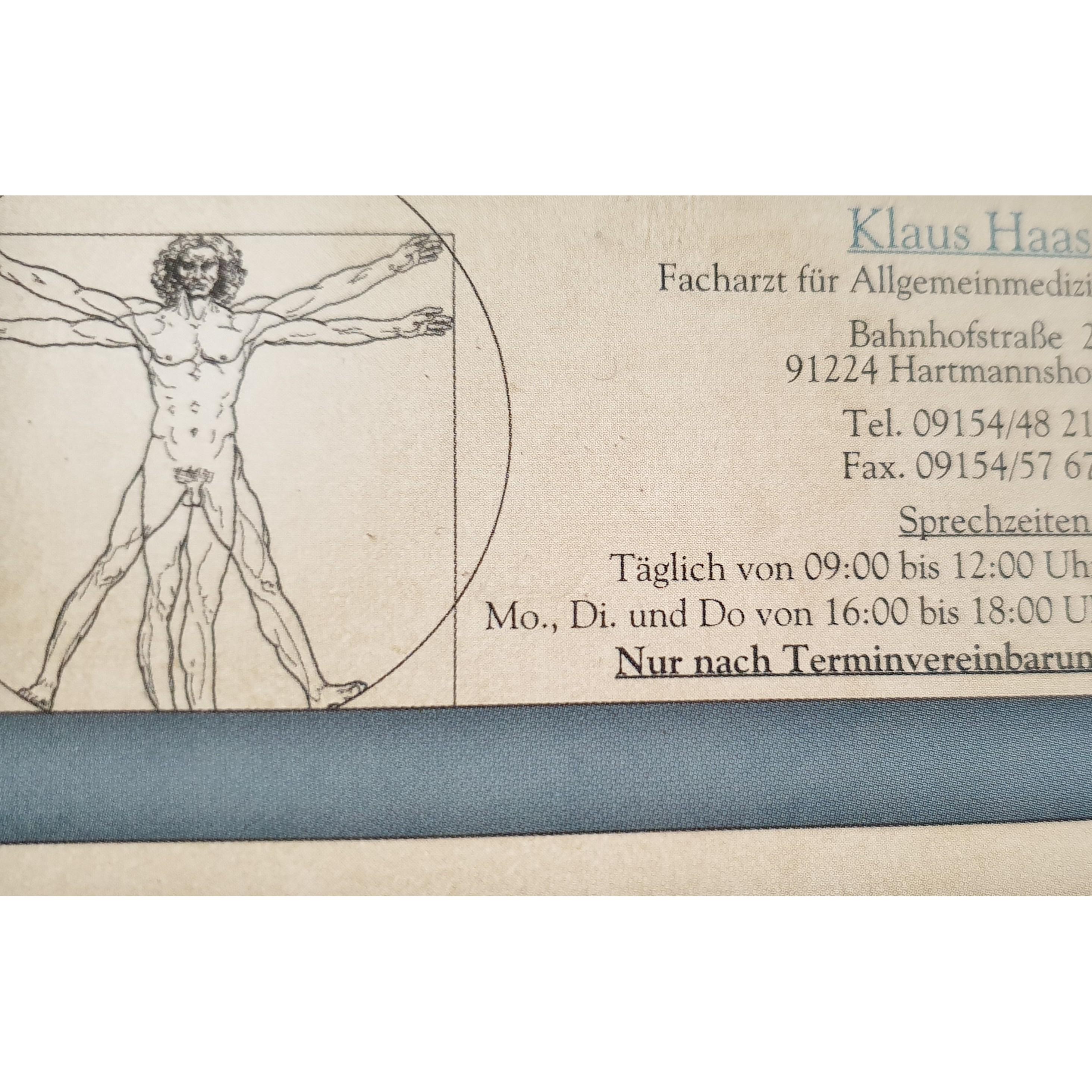 Haas Klaus Facharzt für Allgemeinmedizin