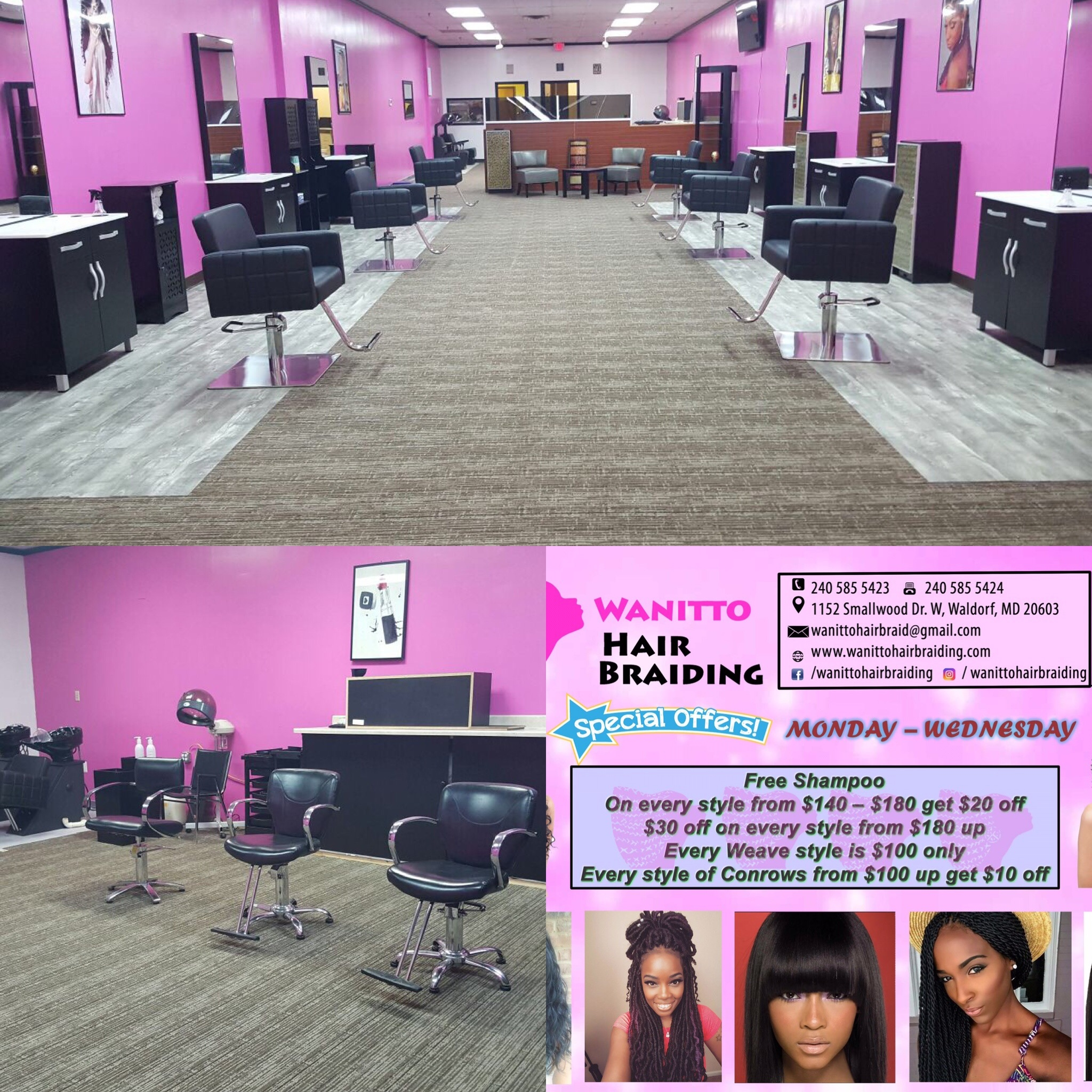 Wanitto Hair Braiding Waldorf Maryland Md