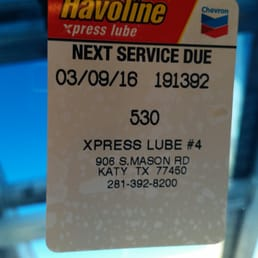 Havoline xpress coupons