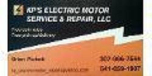 Kp 39 s electric motor service repair coupons near me in for Electric motor rebuilders near me