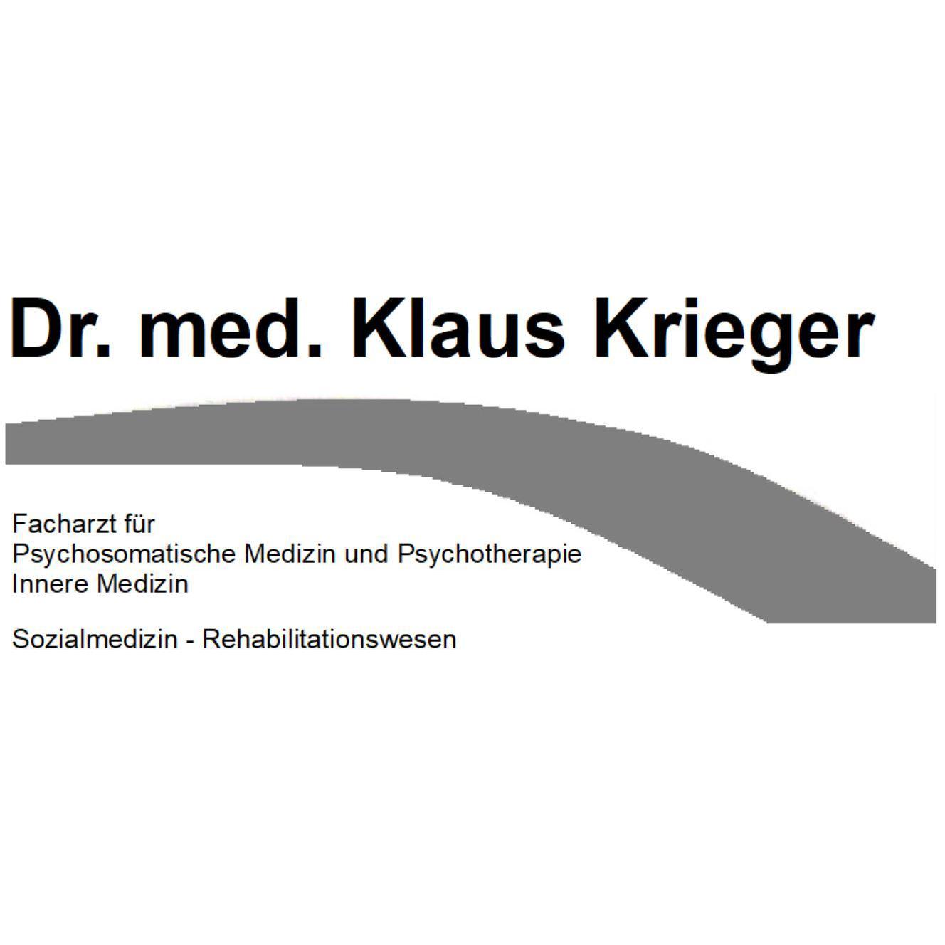 Dr. med. Klaus Peter Krieger