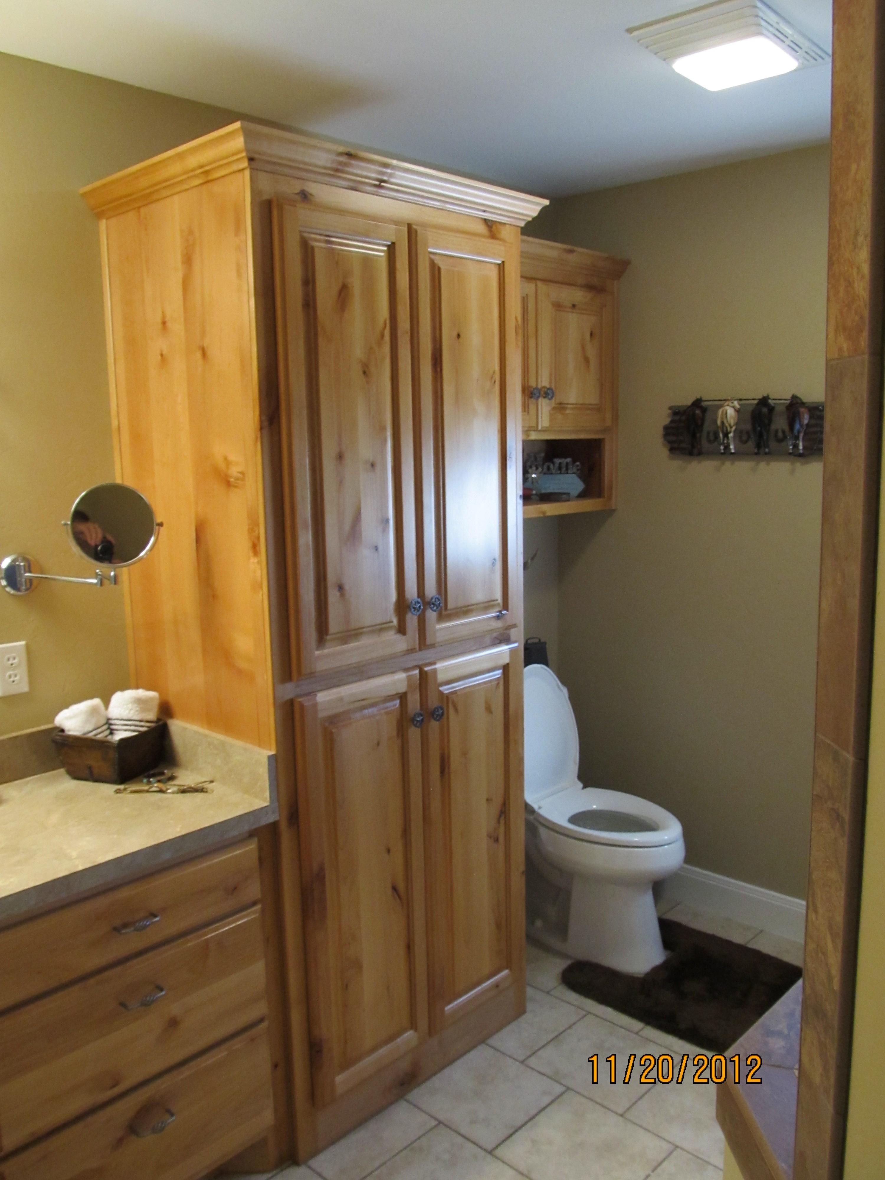Restain bathroom cabinets oklahoma city designs deebonk for Bathroom cabinets okc