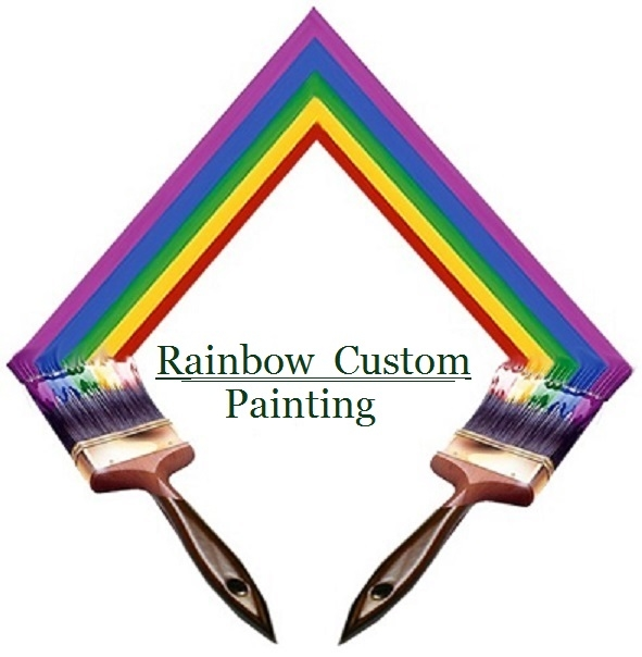 Rainbow Custom Painting Of Santa Barbara