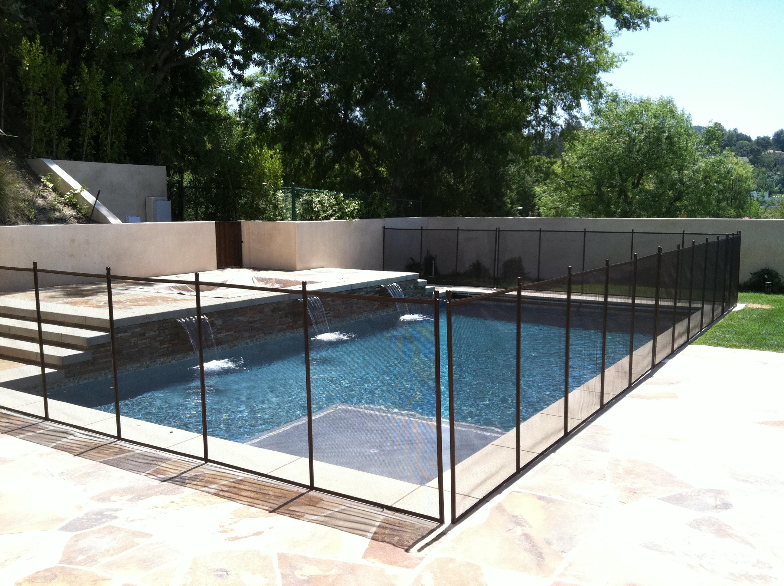 Safeguard pool fence mesh glass company los angeles