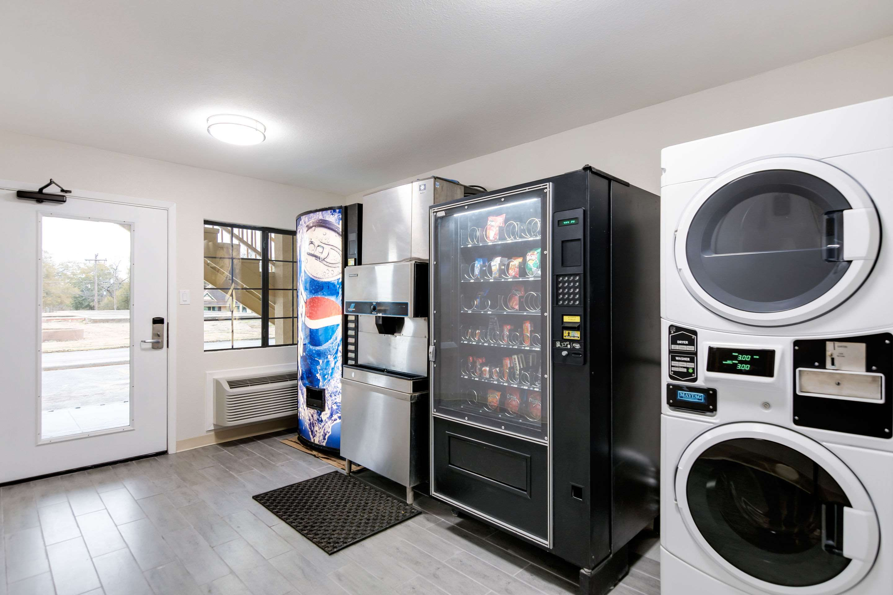 Hotel vending and laundry area