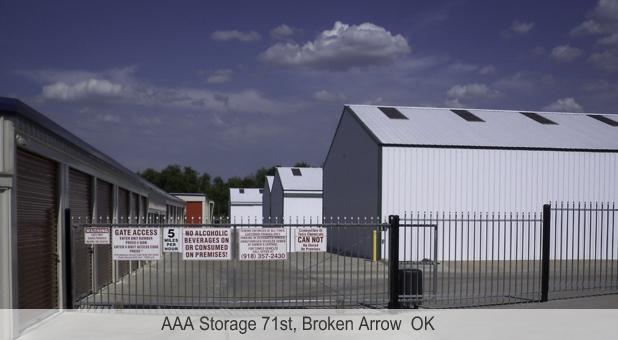 Aaa Storage 71st Broken Arrow Oklahoma Ok
