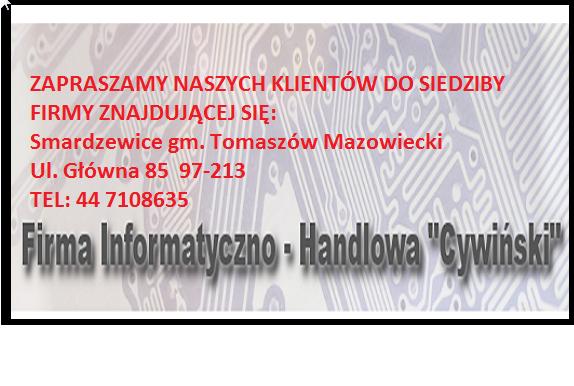 Kasy fiskalne i sklepowe Cywiński