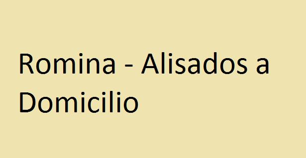 ROMINA - ALISADOS A DOMICILIO
