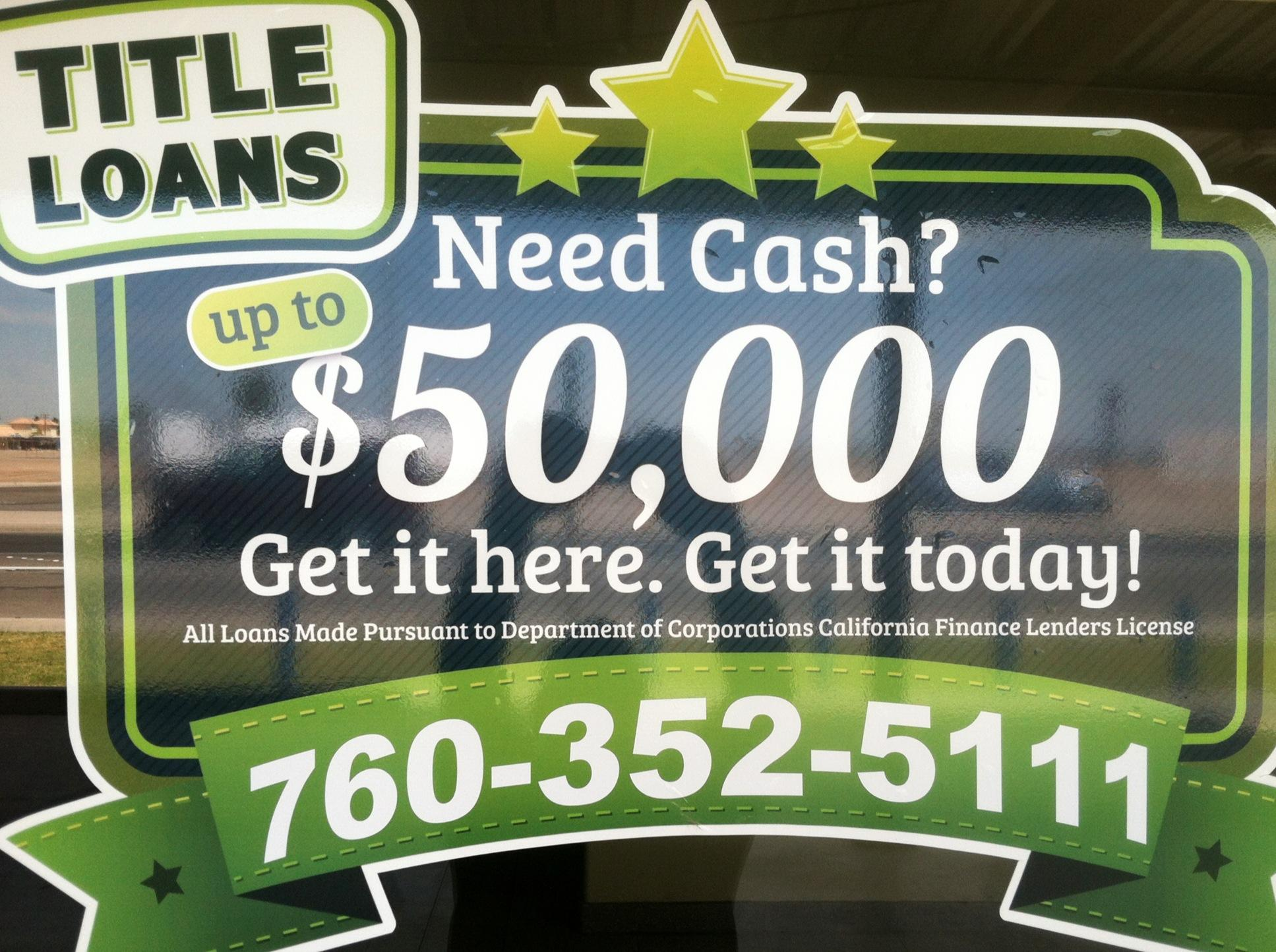 Car Title Loans -Imperial Valley Loan Center, Calexico